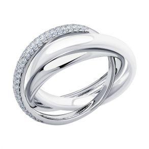Кольцо из серебра 94014581 SOKOLOV