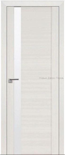62Х Эш вайт мелинга Lacobel Белый лак  дверь PROFIL DOORS межкомнатная