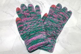 Вязаные шерстяные женские и подростковые сенсорные перчатки ЗР