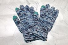 Вязаные шерстяные женские и подростковые сенсорные перчатки Серые