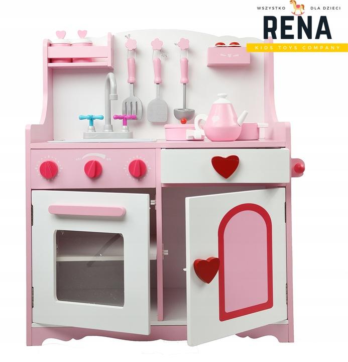 Кухня деревянная розовая