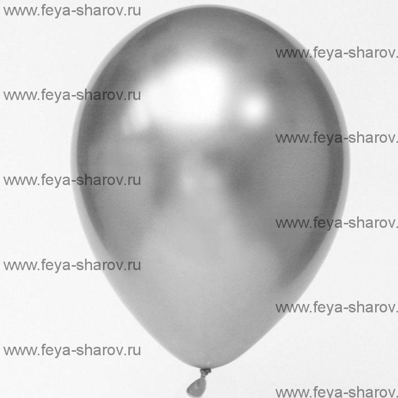 "Шар 12""(32см) Хром Серебро"