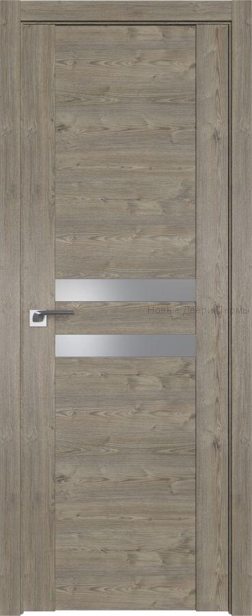 2.03 XN Каштан темный / серебряный лак дверь PROFIL DOORS межкомнатная