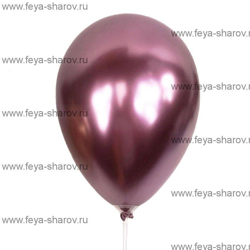 "Шар 11"" (29см) Хром Розовый"
