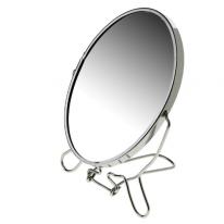 Зеркало настольное двухстороннее с увеличением, 11 см.