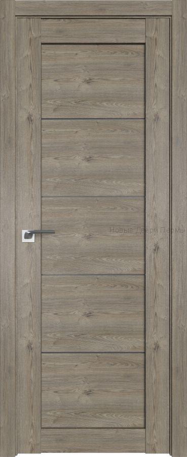 2.11 XN Каштан тёмный стекло Графит дверь PROFIL DOORS межкомнатная