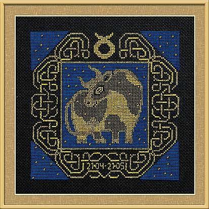 Набор для вышивания крестом Телец №1202 фирма Риолис