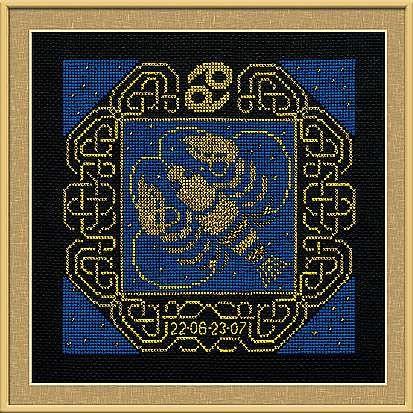 Набор для вышивания крестом Рак №1204 фирма Риолис
