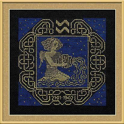 Набор для вышивания крестом Водолей №1211 фирма Риолис