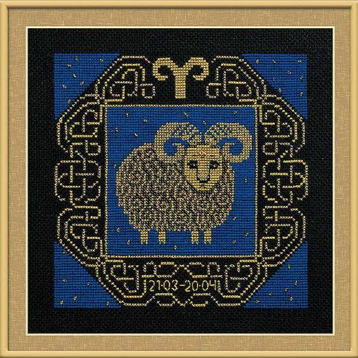Набор для вышивания крестом Овен №1201 фирма Риолис
