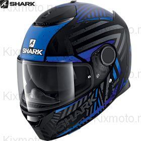 Шлем Shark Spartan 1.2 Kobrak, Черно-Синий Матовый