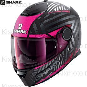 Шлем Shark Spartan 1.2 Kobrak, Черно-фиолетовый матовый