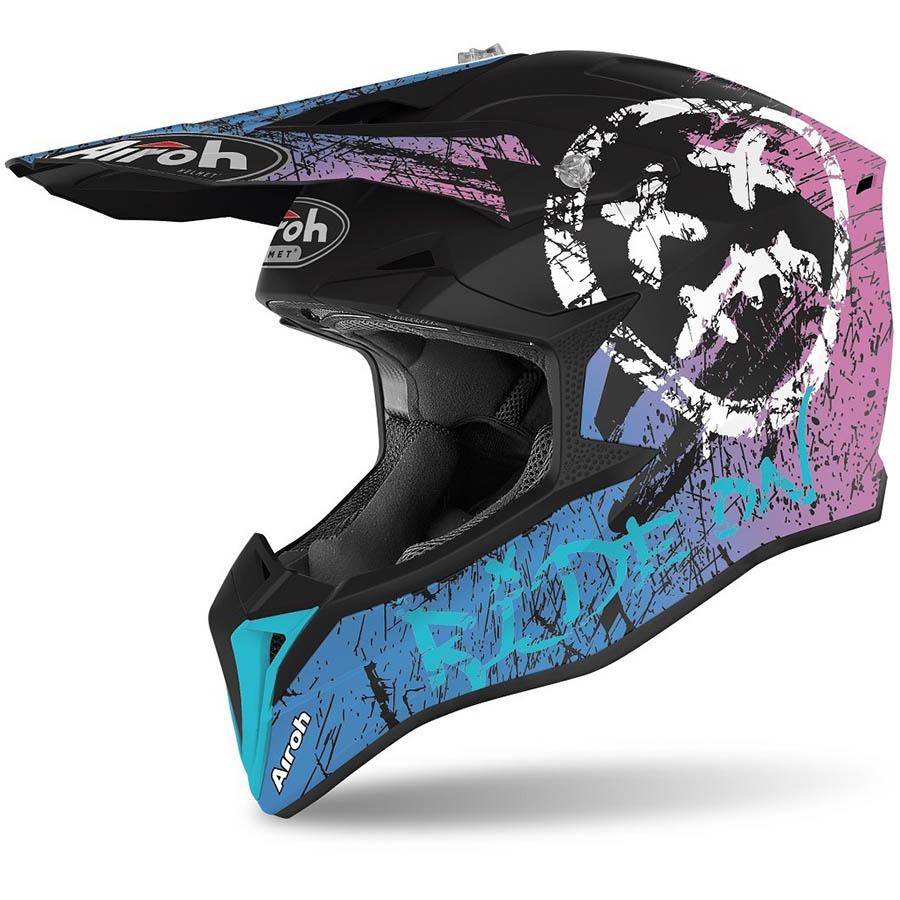 Airoh Wraap Smile Violet Matt шлем, фиолетовый матовый