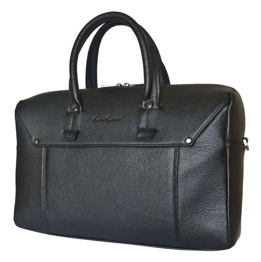 Кожаная мужская сумка Carlo Gattini Norbello black