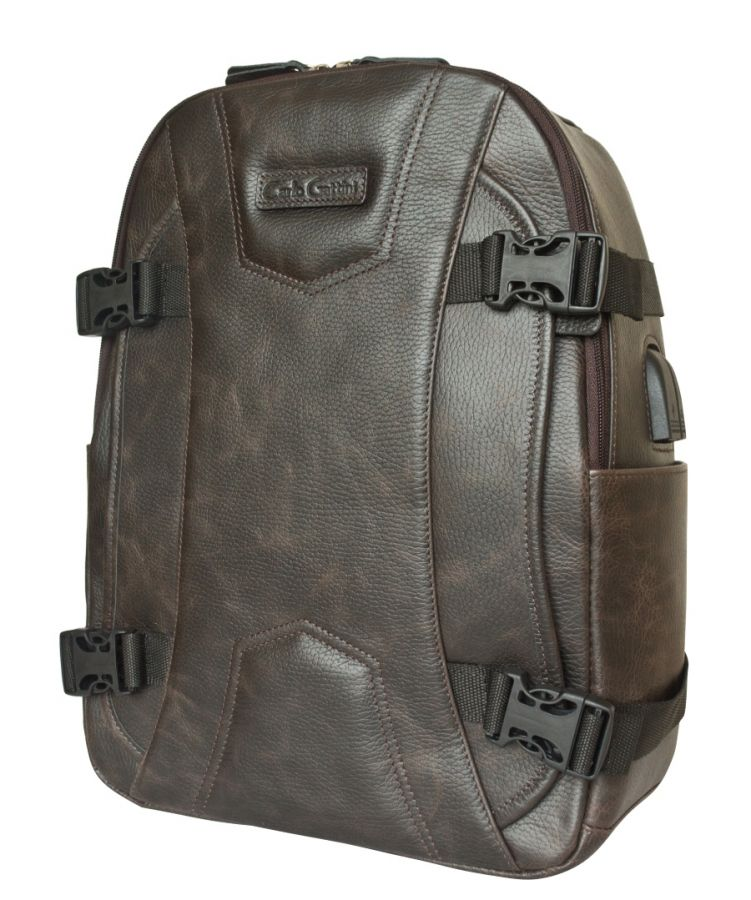 Кожаный рюкзак Carlo Gattini Falcone brown