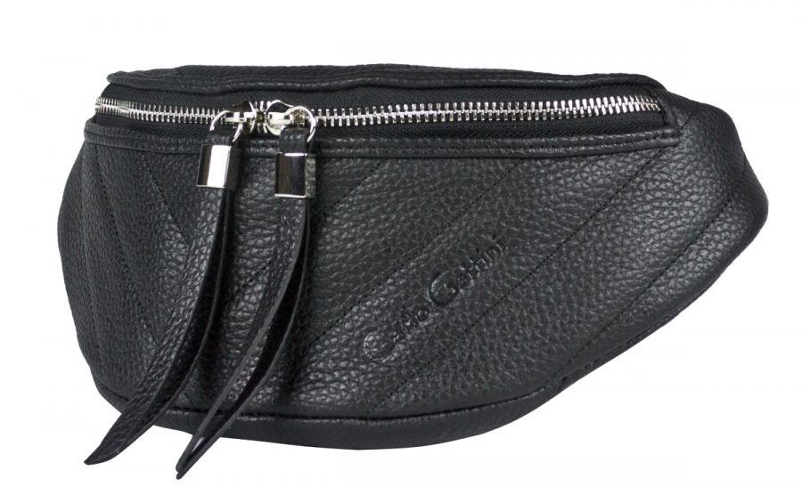 Кожаная поясная сумка Carlo Gattini Vicenne black