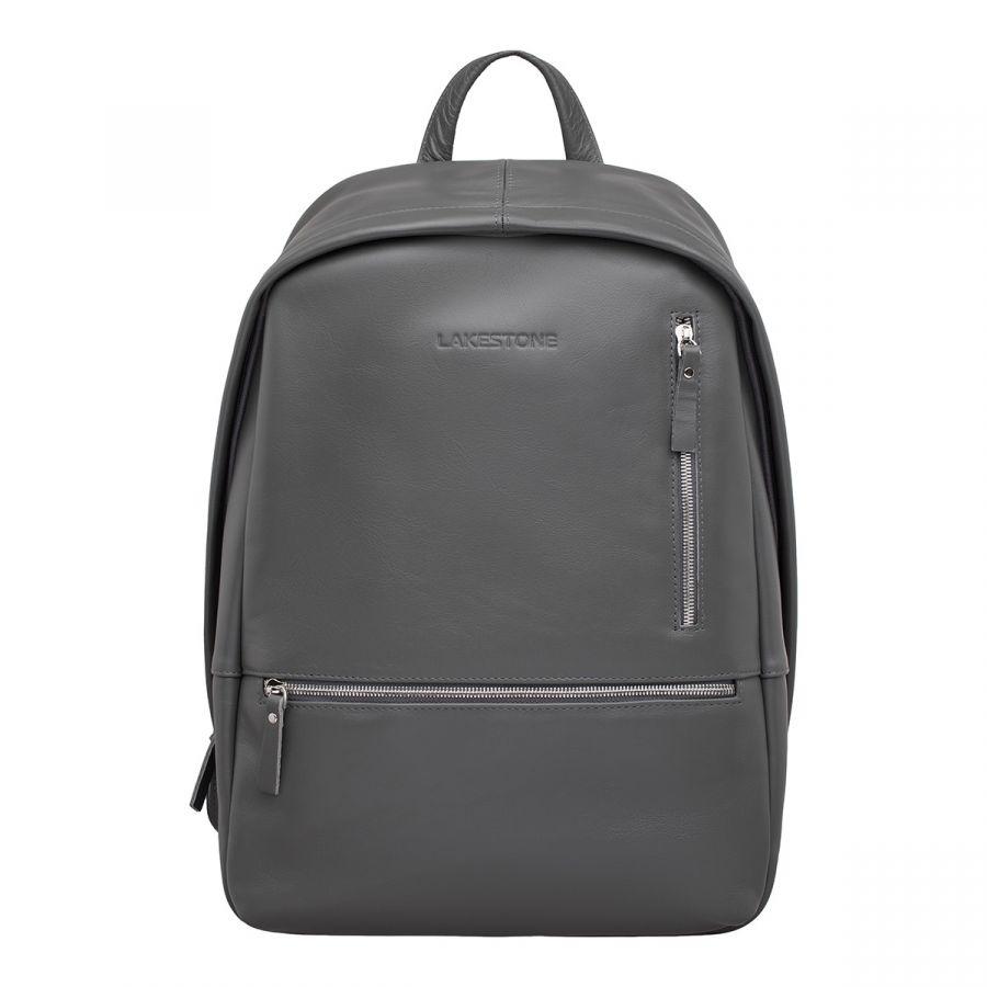 Кожаный рюкзак LAKESTONE Adams Grey