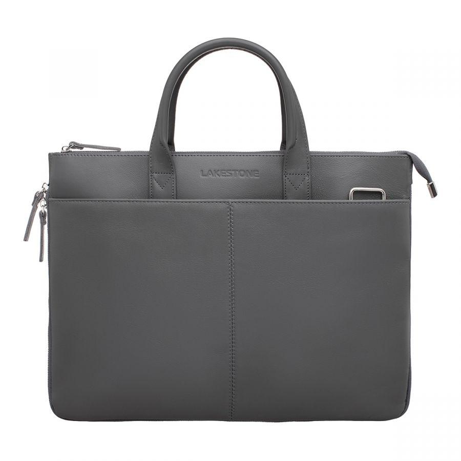Кожаная деловая сумка LAKESTONE Bolton Grey