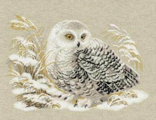 Набор для вышивания крестом Белая сова №1241 фирма Риолис