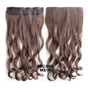 Искусственные термостойкие волосы на заколках на трессе волнистые №М2/30 (55 см) - 1 тресса, 100 гр.