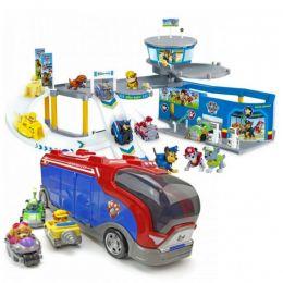 Игровой набор парковка + автобус спасателей Щенячий патруль