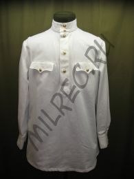 Гимнастерка (рубаха) летняя, белая, для комначсостава, образца 1943 года,  реплика,  (под заказ)