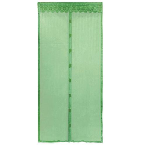 Москитная сетка на магнитах-птичках, цвет - зелёный.