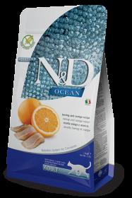 N&D Ocean Herring & Orange adult (Сельдь и апельсин беззерновой сухой корм для взрослых кошек)