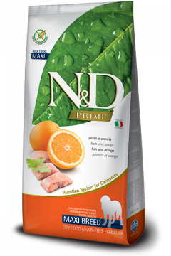 N&D FISH&ORANGE Adult Maxi б/з ( Рыба+апельсин для взрослых собак крупных пород)