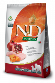 N&D Pumpkin Chicken & Pomegrante Adult medium&maxi (курица, гранат и тыква для взрослых собак всех пород)