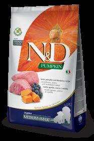 N&D Pumpkin Lamb & Blueberry Puppy medium&maxi (ягненок, черника и тыква для щенков всех пород)