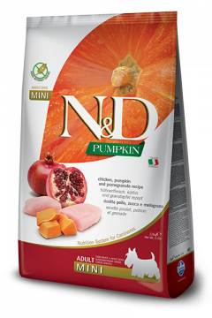 N&D Pumpkin Chicken & Pomegranate Adult Mini (Курица, гранат и тыква для взрослых собак мелких пород)