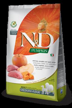 N&D Pumpkin Boar & Apple Adult medium&maxi (Кабан с Яблоком и Тыква для взрослых собак всех пород)