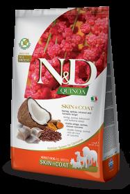 N&D Dog Quinoa Skin&coat Herring (Сельдь, киноа, кокос и куркума. Здоровье кожи и шерсти)
