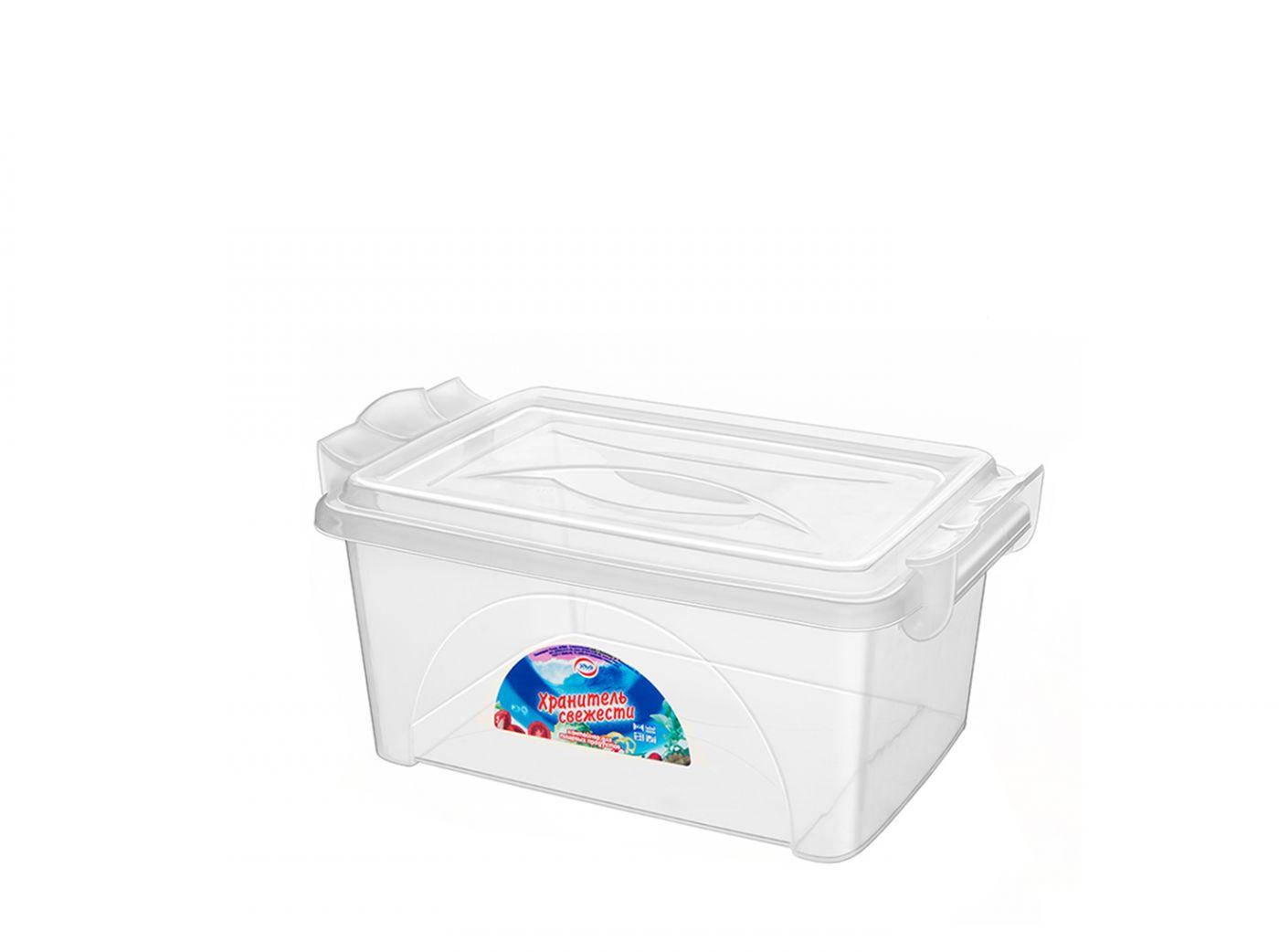 Контейнер для хранения Эльфпласт Хранитель свежести 4,5 литра прозрачный с крышкой 29,5х19х12 см