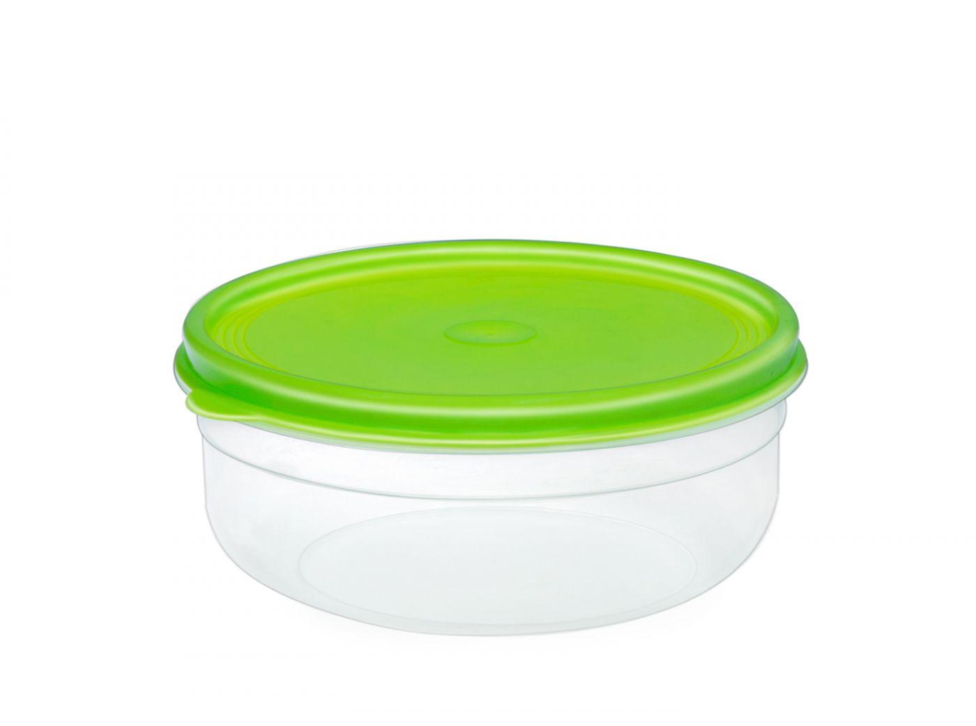 Бутербродница круглая 1,7 литра Эльфпласт контейнер для хранения еды с крышкой 19,5 см