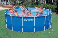 Каркасный бассейн 457 х 122 см Metal Frame Pool Intex OEM 28242NP, лестница, аксессуары