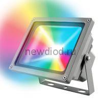 Прожектор светодиодный ULF-S01-30W/RGB/RC IP65 110-240В картон UNIEL