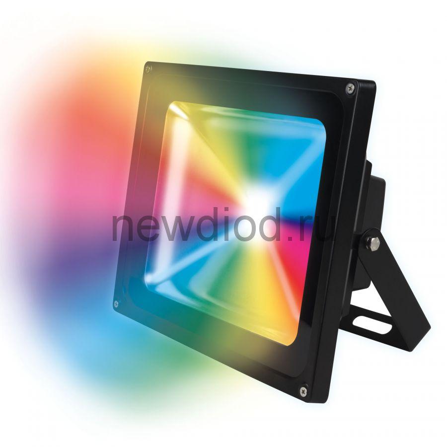 Прожектор светодиодный ULF-S01-50W/RGB/RC IP65 110-240В картон UNIEL