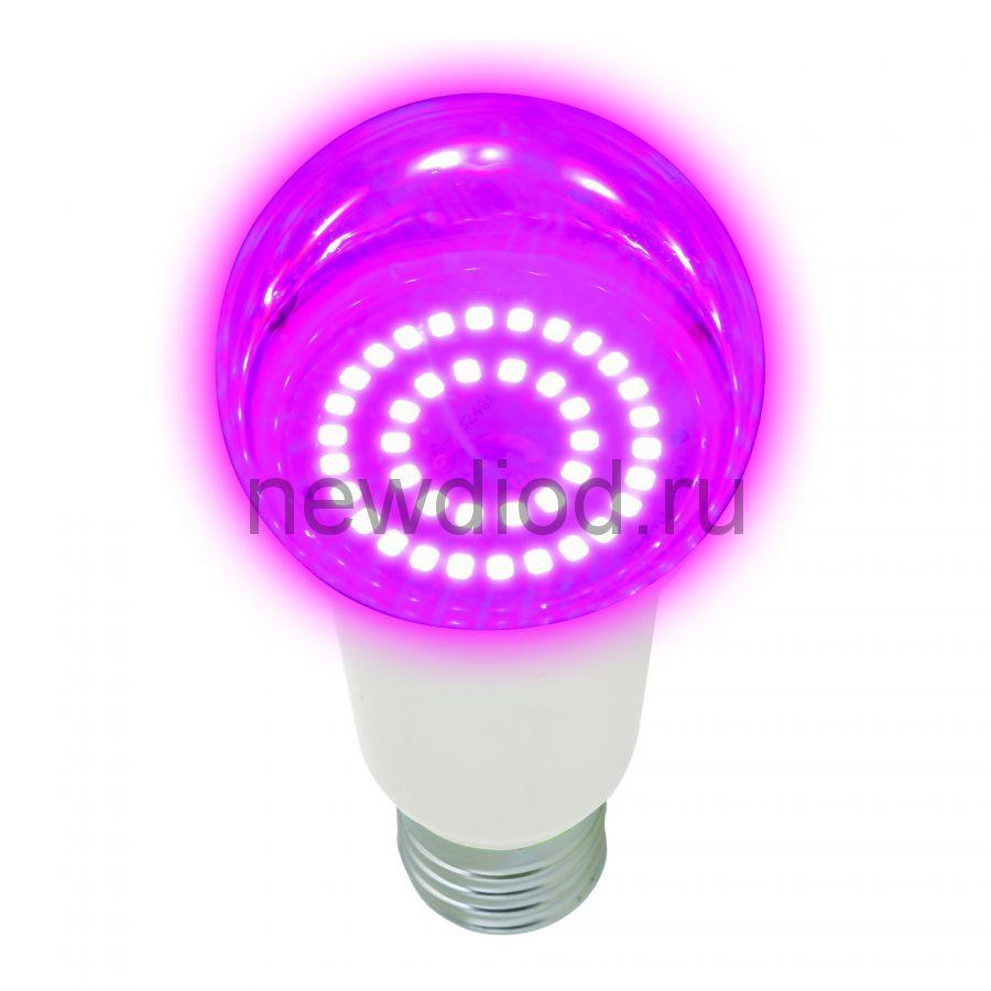 "Лампа светодиодная LED-A60-14W/SPSB/E27/CL PLP30WH Ф ""A"" прозр. Спектр для рассады и цветения Uniel"