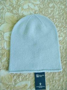 """Кашемировая мягкая классическая тонкая шапка-бини """"Джерси"""",  цвет лазурная пудра. Jersey Hat POWDER BLUE"""