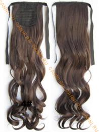 Искусственные термостойкие волосы - хвост волнистые №004 (55 см) -  80 гр.