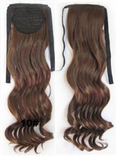 Искусственные термостойкие волосы - хвост волнистые №010 (55 см) -  80 гр.
