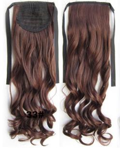 Искусственные термостойкие волосы - хвост волнистые №033 (55 см) -  80 гр.