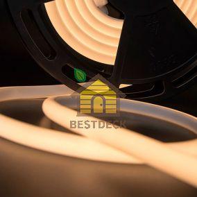 Светодиодная термолента для сауны, 24В, IP68, цвет: Белый теплый