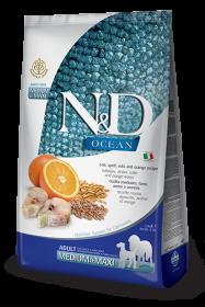 N&D Ocean Codfish, Spelt, Oats & Orange medium&maxi adult (треска с пшеницей, овсом и апельсином)