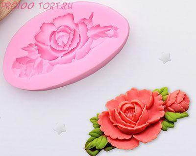"""Молд силиконовый  """"Прекрасная роза"""""""