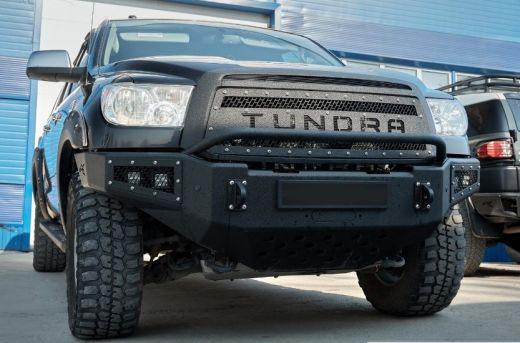 Решетка радиатора BMS Тойота Тундра 2010-2013 рестайлинг V3 надпись ТUNDRA