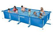 Каркасный бассейн 450 х 220 х 84 см Rectangular Frame Pool Intex 28273NP