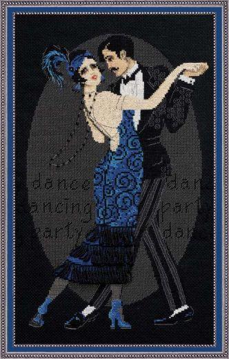 Набор для вышивания крестом Танцевальное кафе №1244 фирма Риолис